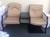 Garden / conservatory seat set