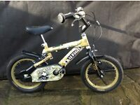 Raleigh Stormer Army Camo 14 inch Bike excellent condition with Camo helmet