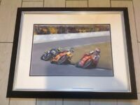 Limited Edition Motorcycle Racing Print (No6 of 195) Fogerty, Sheene & Rossi