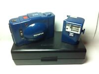 Olympus XA2 Rare Blue with Flash