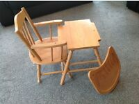 Wooden High Chair - multi functional