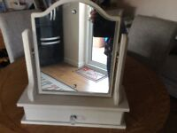 Mirror Dressing table with drawer painted in chalk paint