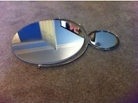 MIRROR, BRAND NEW IN BOX. Large with shaving mirror attached.