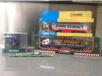 Eddie Stobart Corgi lorries plus other Eddie Stobart collectibles.