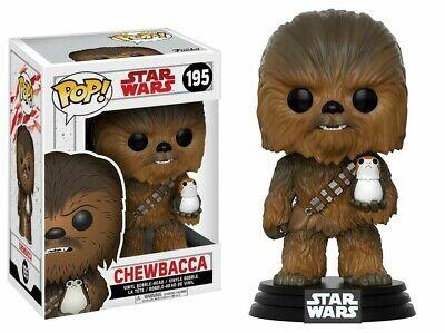 Chewbacca With Porg POP Figure #195 Star Wars The Last Jedi Funko New!