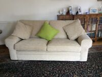 One three seater sofa, one two seater sofa and one armchair all matching. Sell as whole or separate.