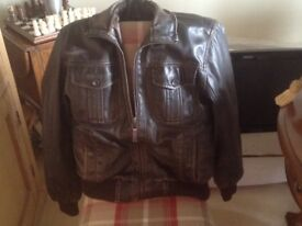 Leather jacket by Blue Harbour