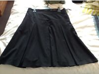 Black Skirt Size 14L From Marks And Spencer