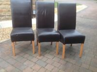 Chairs. Faux leather dining chairs. (Set of 6)