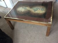 """""""World Map"""" Occasional/Coffee table. Late 70's-early 80's. Solid piece of furniture"""