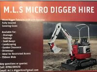 Micro digger and operator hire
