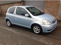 2004 toyota yaris blue 3dr manual clean car 1.3 aygo iq c1 up 107 cheap bargain