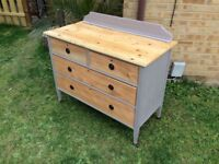 EARLY VINTAGE FOUR DRAWER CHEST / DRESSER / SIDEBOARD