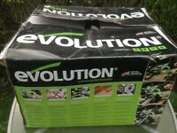 Evolution Fury electric chop saw, mint condition, all accessories and handbook. Boxed, used once