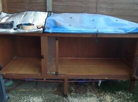 Huge 7ft hutch with all year cover, thermal and fly screen, solid, sturdy and great condition