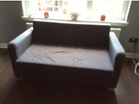 IKEA Two Seater Brown Sofa Bed