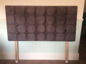 Double Padded and Buttoned Headboard.