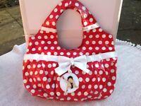 Red and white Betty Boop handbag
