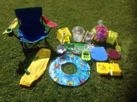 Selection Of Beach Items