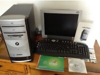 E machine Desk Top PC - Tower, Monitor and keyboard