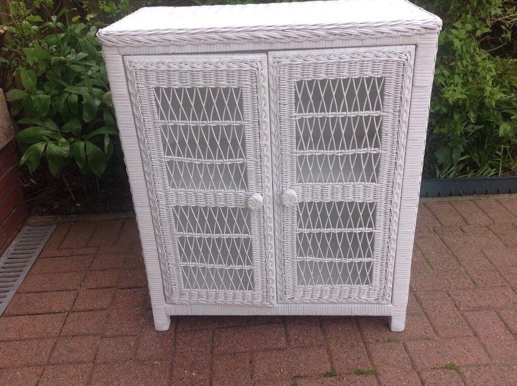 White Wicker Cupboard In Strathaven South Lanarkshire Gumtree