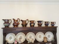 Set of Bronze Lustre Jugs