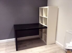 Ikea Expedit Bookcase and Desk
