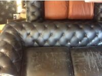 Reduced 3 seater Chesterfield sofa