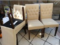 Four Dining table chairs. By Made Com