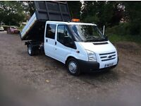 Ford transit tipper crew cab 2010 25,000 miles warranted 1 owner no v.a.t
