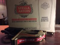 New. Stella beer pump and boxed Stella glasses