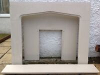 Quartz fire surround and mantlepiece for sale