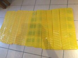 Yellow grip mats