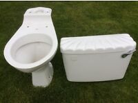 Toilet and matching cistern for sale