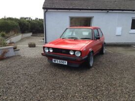 Mk 1 golf gti mars red wheels not for sale no more timewasters please