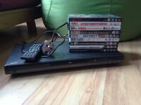 DVD player with DVDs bundle