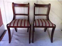 2 Vintage Dining Chairs / Can Deliver