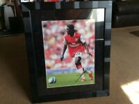 Signed picture of adebayor from arsenal framed