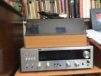 Vintage Amplifier /Radio and Record Player Turntable