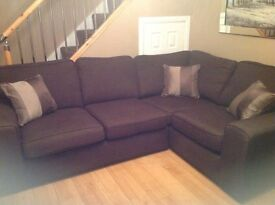Corner unit and 2 seater sofa for sale.