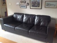 For Sale: Two 4-Seater leather settees.