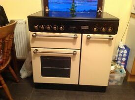 Rangemaster cooker dual ovens ceramic hob, a little scratched, in good working order