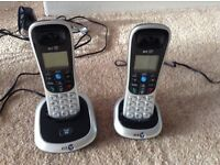BT digital cordless telephones