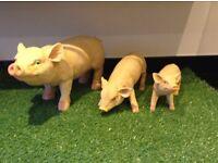 Outdoor Garden Resin Pigs
