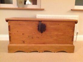 Wooden Storage Chest / Blanket Box.