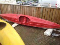13 foot long red grp kayak