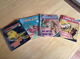 Four Starblazer, Two Dandy and One Beano comics.