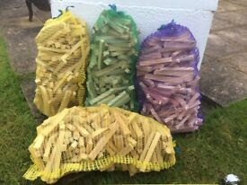 Large net bags of kindling