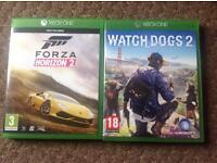 Watchdogs 2 and forza horizon 2 for Xbox one