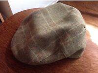Barbour cap - herringbone tweed